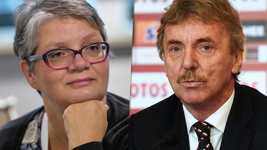Dorota Zawadzka i Zbigniew Boniek