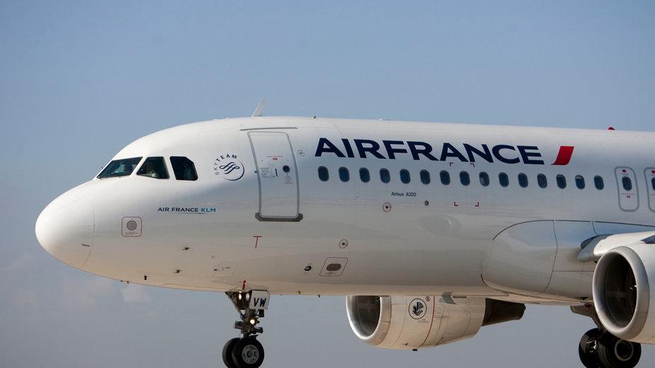 Samolot Air France A320 na płycie