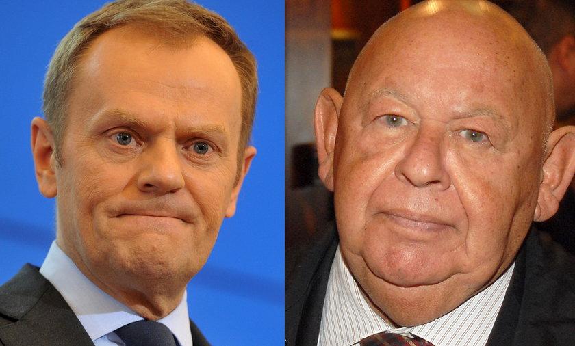 Donald Tusk i Jerzy Urban