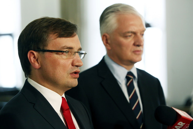 Zbigniew Ziobro i Jarosław Gowin PAP/Tomasz Gzell