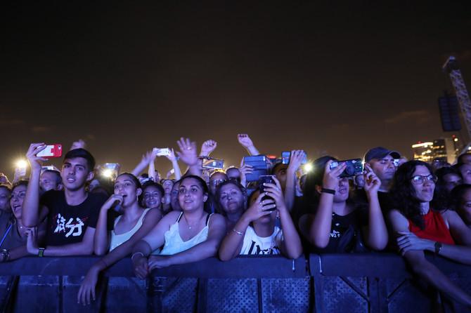 Publika u Tel Aivu na koncertu Dženifer Lopez