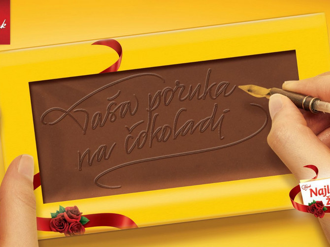 Ljubav je poruka na čokoladi