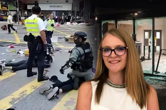 """""""NOĆAS SU NAM DEMOLIRALI FAKULTET, NAPOLJE NE SMEMO, KAO U ZATVORU SMO"""" Studentkinja iz Srbije svedok krvavih nemira u Hong Kongu"""