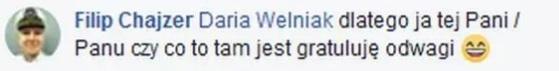 Filip Chajzer na Facebooku