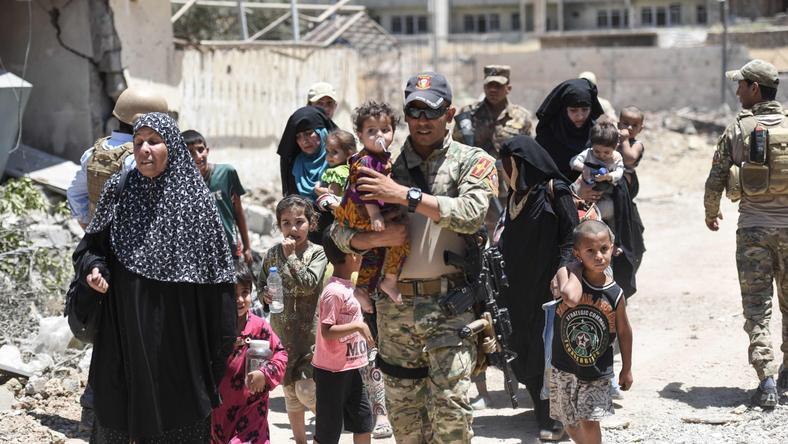 Uciekinierzy z Mosulu, Irak