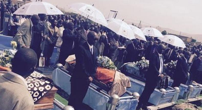 4 brothers murdered by their father, laid to rest in joint funeral