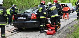 Kraksa w Brzechowie. Do szpitala trafiły cztery osoby, w tym 10-miesięczne dziecko