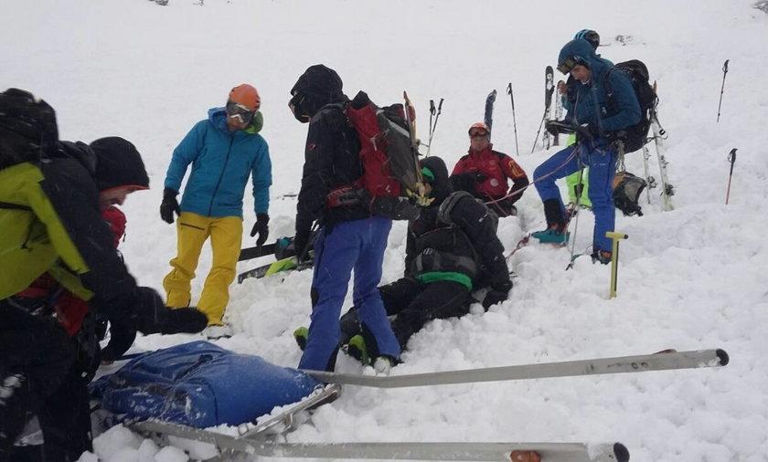 Lawina porwała Polaka w słowackich Tatrach. Uratował go plecak