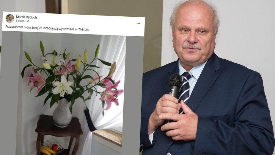 Marek Dyduch porównał Barbarę Nowacką do swojej żony
