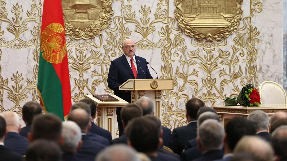 Aleksander Łukaszenko podczas inauguracji