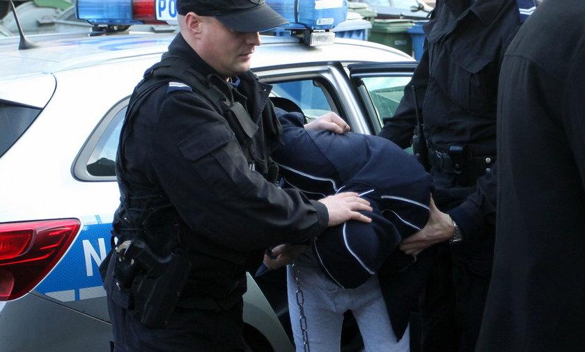Łukasz P. zatrzymany przez policję
