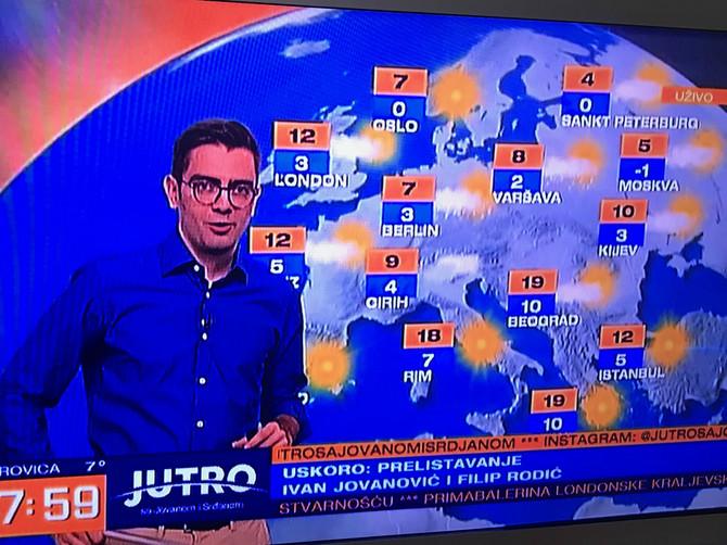 Reporter Danilo Mašojević u Jutru sa Jovanom i Srđanom