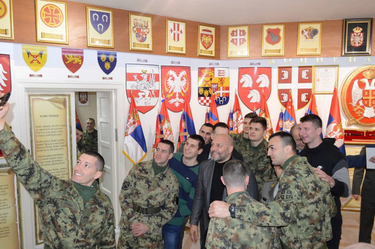 Aleksandar Đorđević u poseti muzeju kopnene vojske