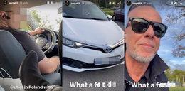 """Nergal hejtuje kierowcę. """"To jest reklama Ukrainy""""! Oburzeni internauci nie zostawili na muzyku suchej nitki"""