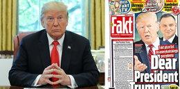 Fakt pisze do prezydenta Trumpa. Fakts letter to President Trump