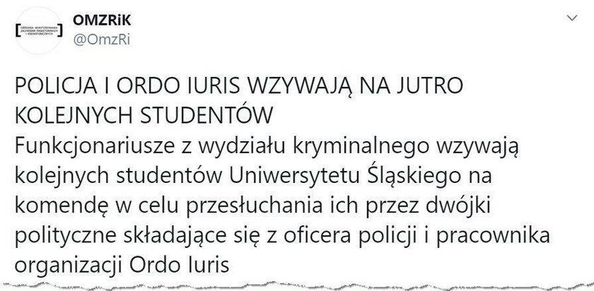 Prawnik Ordo Iuris na przesłuchaniu studentów