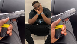 Medikal flashes newly acquired American pistol on social media