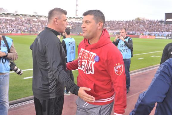 Vladan Milojević i Savo Miošević  pred 161. večiti derbi