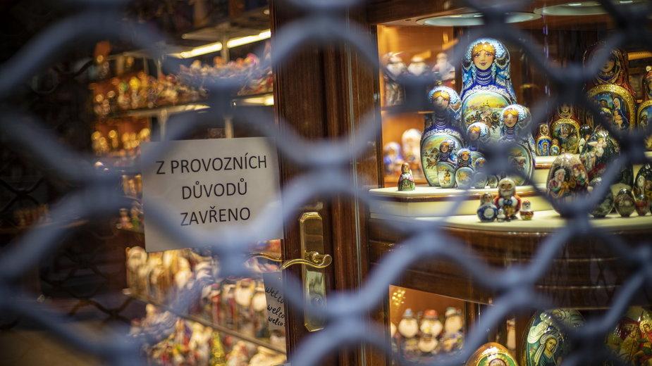 Zamknięte sklepy w Czechach