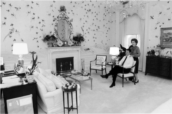Reagans in their White House Bedroom