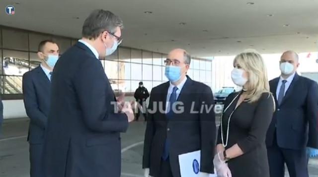Aleksandar Vučić na aerodromu