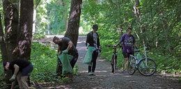Poszli na spacer, by posprzątać las