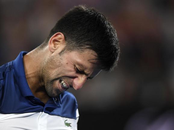 Novak Đoković tokom meča 4. kola Australijan opena sa Hjeon Čungom
