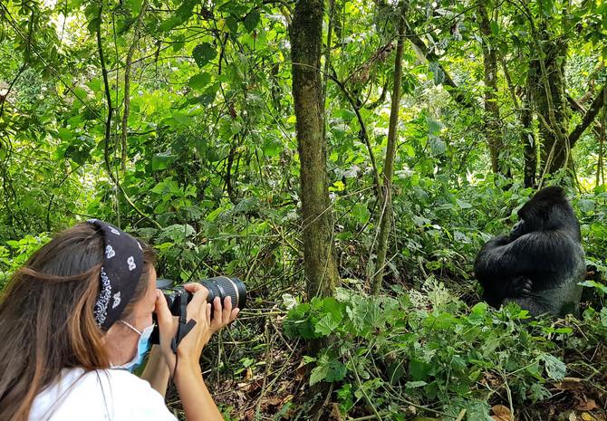 Svetlana u parku Virunga