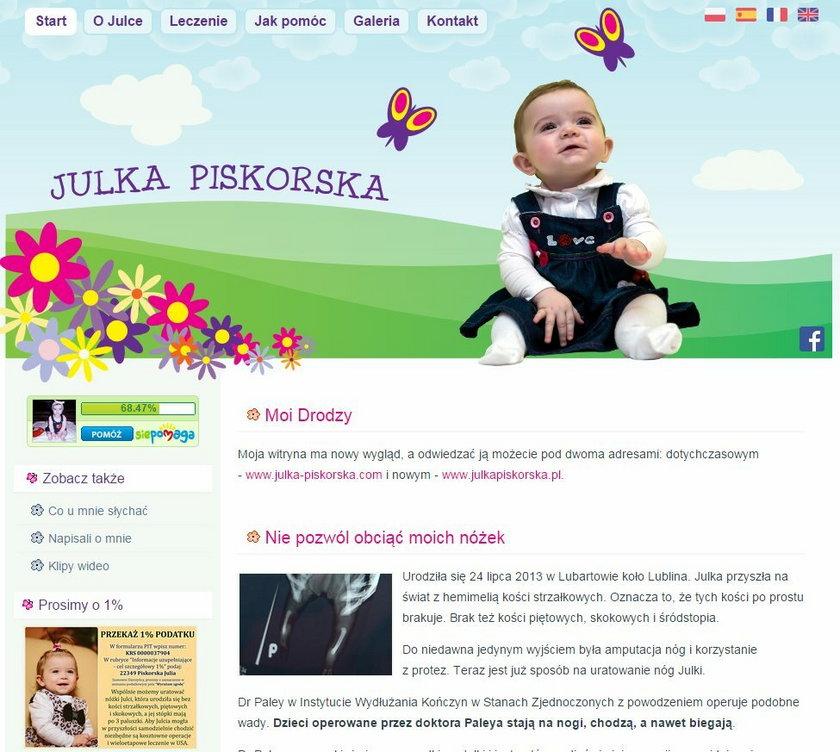 Papież Franciszek dał pieniądze na operację Julki