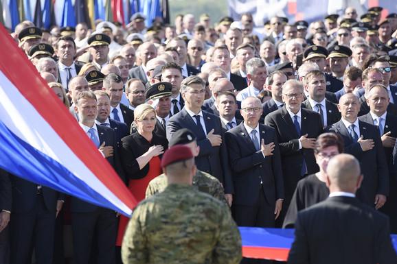 Državni vrh Hrvatske na proslavi Oluje u Kninu