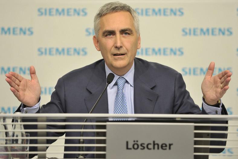 Peter Loescher, dyrektor zarzadzający Siemens.