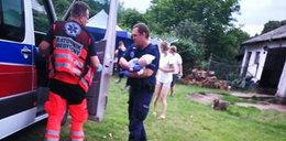 Dramatyczne sceny w Siwkowicach. Dwumiesięczne dziecko nie oddychało po pożarze domu