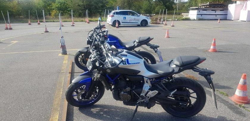 Złodzieje ukradli motocykle z auto szkoły w Łodzi