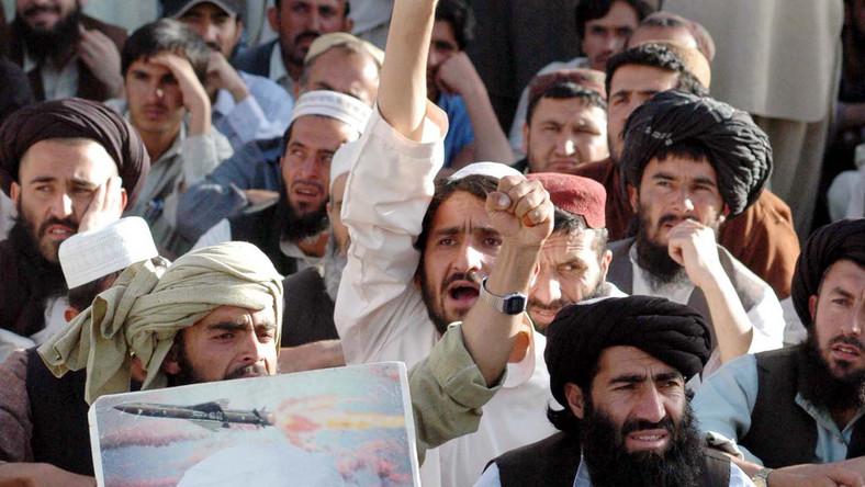 Protest przeciwko zabiciu Osamy bin Ladena. Pakistan, maj 2011 roku