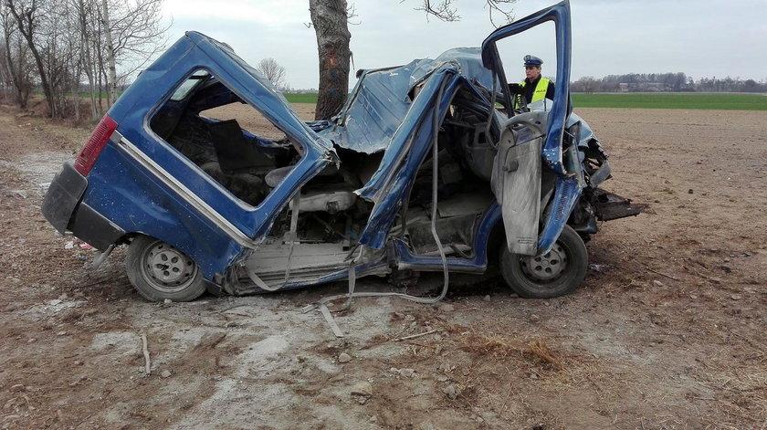 Śmiertelny wypadek na Opolszczyźnie. Pijany kierowca z impetem uderzył w drzewo