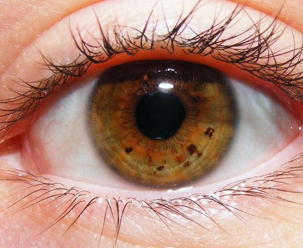 Dziwne oko na proste połączenie faceta