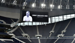 A tribute to Jimmy Greaves, who has died aged 81, at former club Tottenham Creator: JUSTIN TALLIS