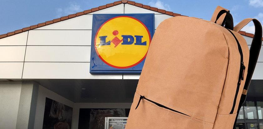 Lidl znów zaskakuje! Sprzedaje plecaki z papieru