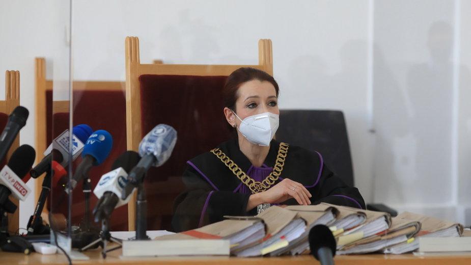 Sędzia Agnieszka Warchoł na sali rozpraw Sądu Rejonowego w Płocku
