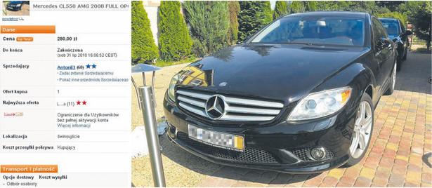 Ten Mercedes CL AMG został wystawiony na Allegro za 280 zł, zamiast za 280 tys. Transakcję zawarto Fot. Bloomberg
