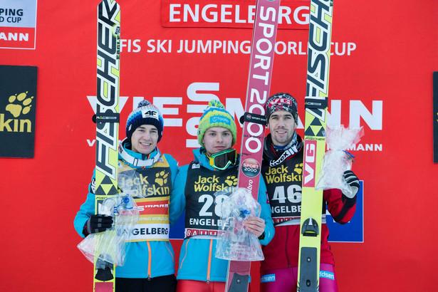 Kamil Stoch, Jan Ziobro i Anders Bardal