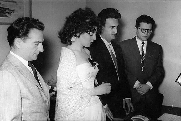 Oskar Davičo, Leposava Milanin, Antonije Isaković i Dobrica Ćosić