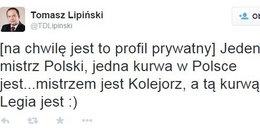 Radny z Poznania nabija się z Legii!