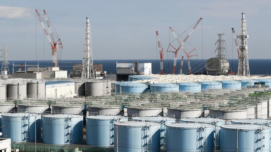 Zbiorniki z wodą w Fukushimie