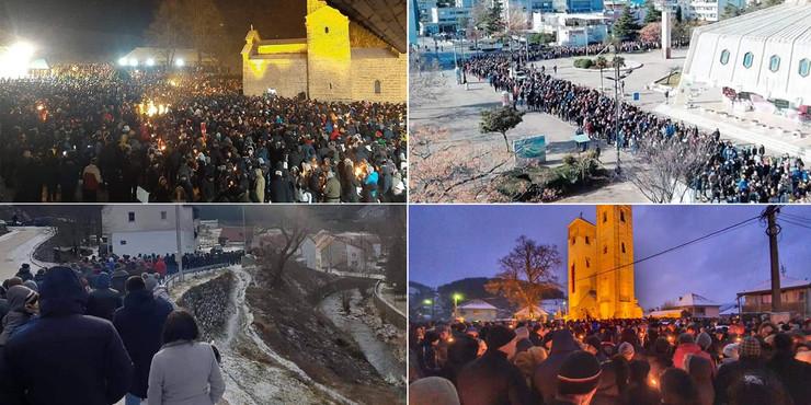 Crna Gora litija  foto Facebook Objectiv story