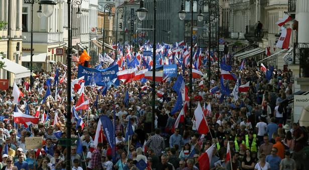 Dzień Europy. Marsz KOD w Warszawie