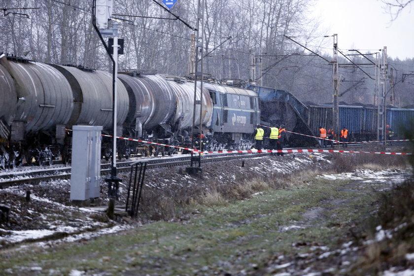 Myszków. Zderzenie pociągów towarowych