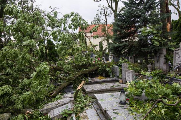 Gwałtowne burze, a miejscami nawet trąby powietrzne przeszły przez Pomorze w nocy z piątku na sobotę.