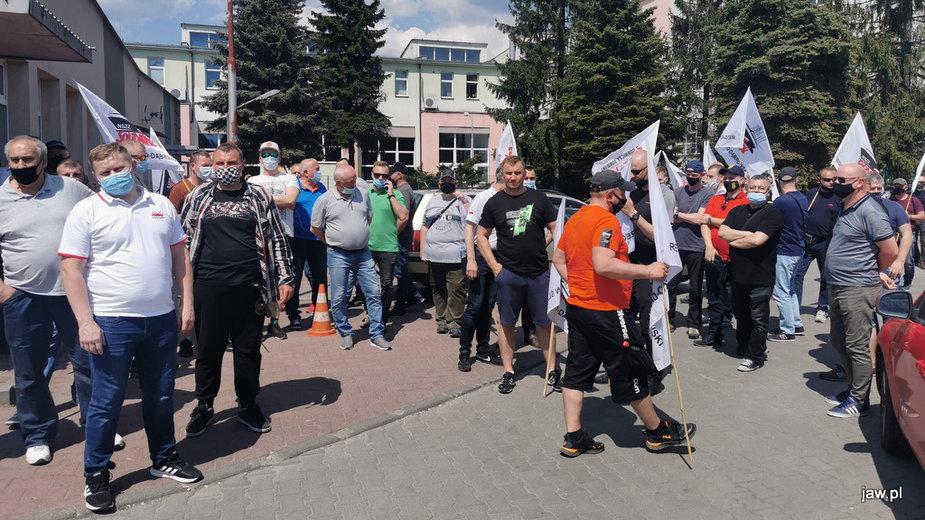 Protest związkowców