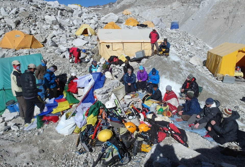 Baza (base camp) pod Everestem
